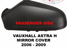 VAUXHALL ASTRA MK 5  H  DOOR MIRROR  COVER   BLACK   2004 - 2008     3 DOOR MODEL